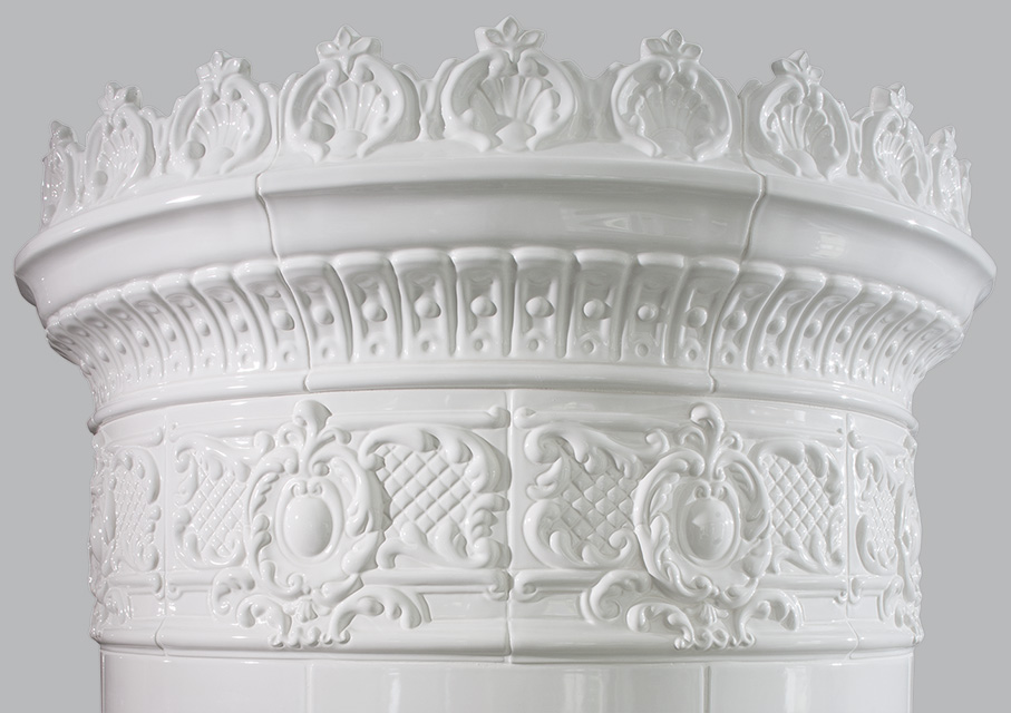 Antiker schwedischer Kachelofen Reimanns-Krona® 21