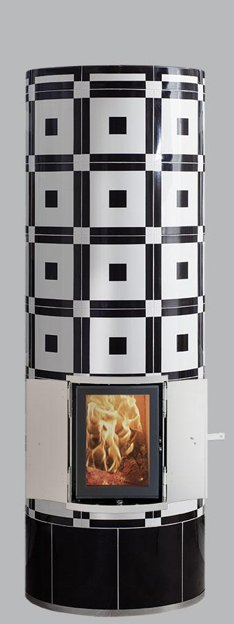 Krona Kachelofen im klassischen Bauhaus Stil
